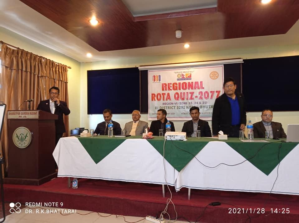 Winner of Regional Rota Quiz RC Bharatpur