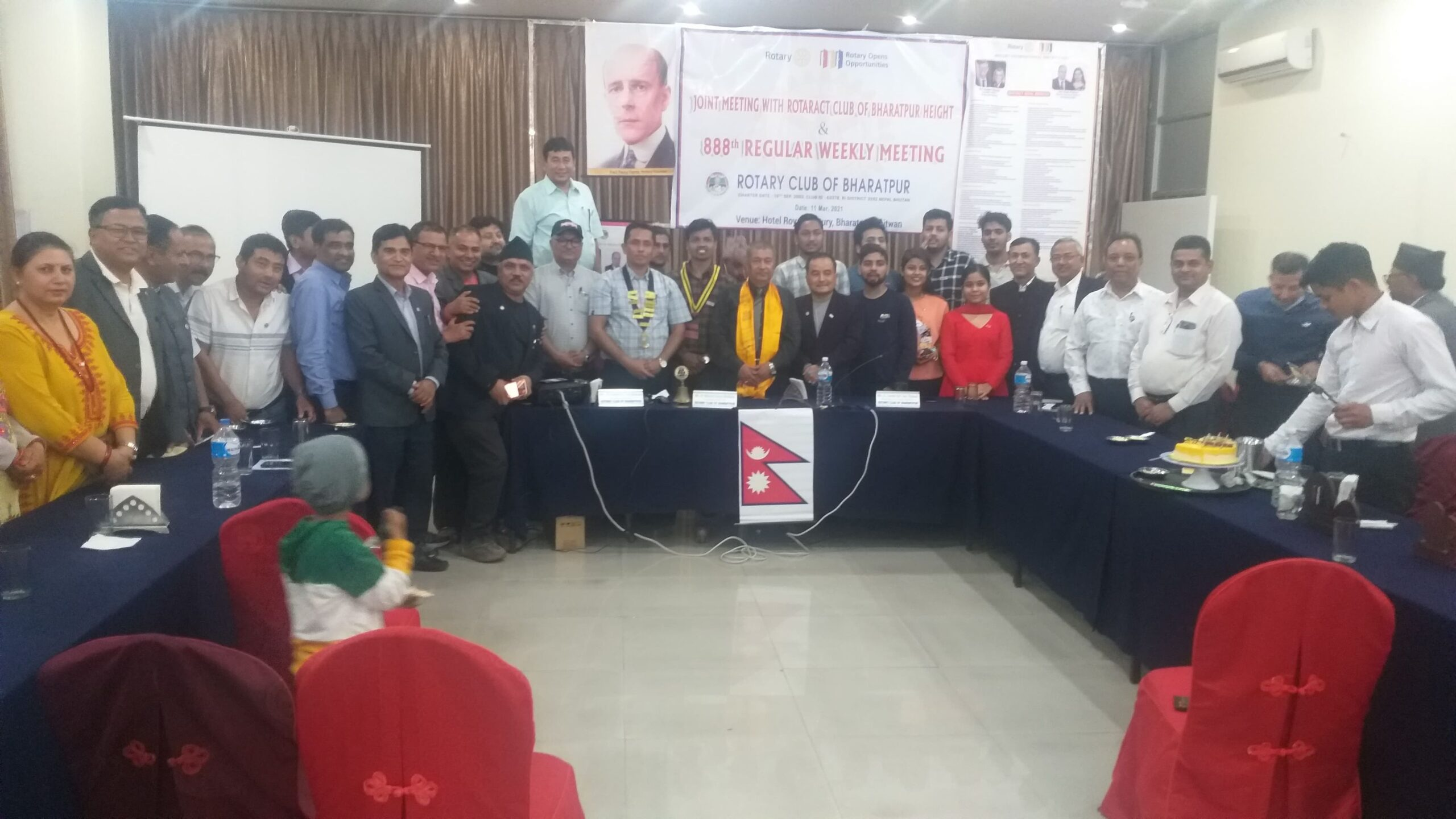 Joint Meeting with Rotract Club of Bharatpur Height and 888th Weekly Regular Meeting of Rotary Club of Bharatpur